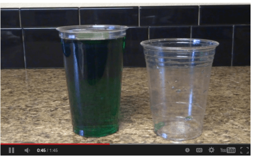 It's not green beer (click to watch the video) but it is clear -- these cups hold the same amount of beer.