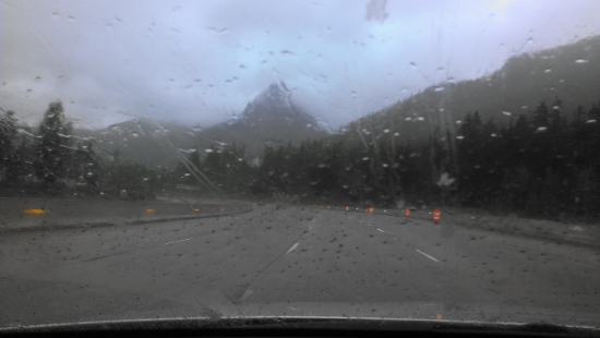 Of course it was raining when I got to the Cascade Mountains.