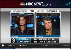 On the road, on MSNBC