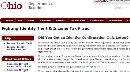 Ohio ID theft