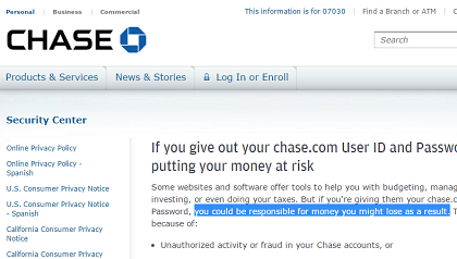 Chase Accounts Hacked