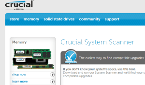 Crucial's memory scanner is a nifty piece of software that will tell you if you can upgrade.