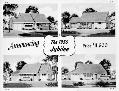 Levittown, on New York's Long Island, new starter homes were plentiful in the late 40s and 50s. Click to visit the Instant House blog, a tribute to manufactured homes.