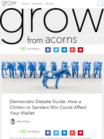 Click to read my story on Grow from Acorns.