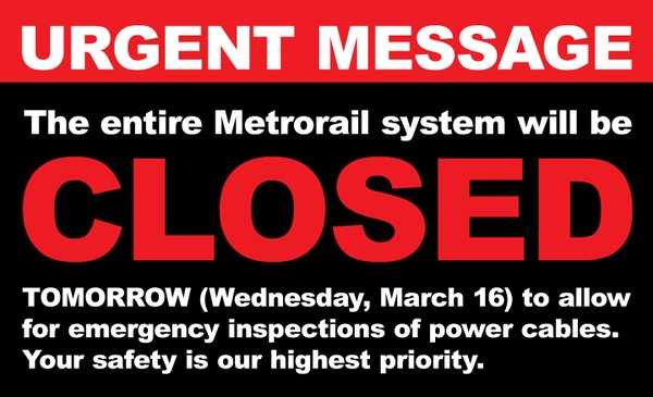 From WMATA Twitter feed