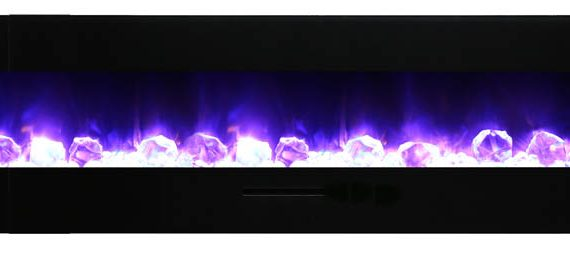 Electric Fireplaces Wall Mount Flush Mount Wm Fm Series Amantii Wm-fm-72-8123-bg Electric Fireplace | Bob's