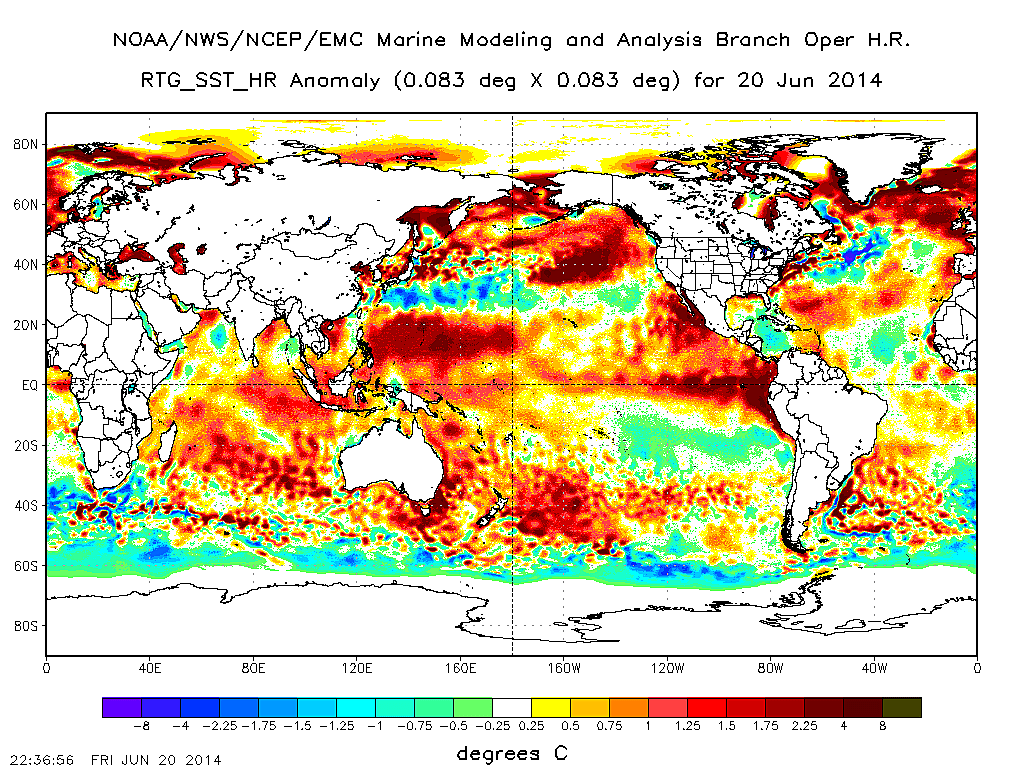 The Unisys Daily Sea Surface Temperature Anomaly Maps May