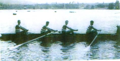 Star Youth Four: National Championship winners at Karapiro. 1963