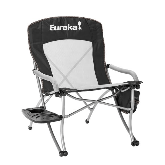 camping chairs with side table rocking nursing chair eureka curvy camp image