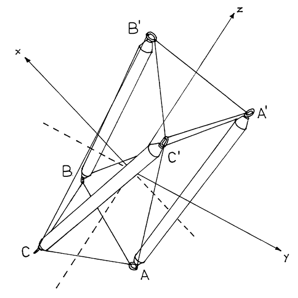 t-prism-in-the-making embedded in xyz coordinate space