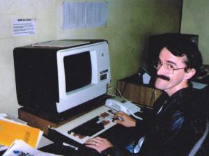 Bob at work 1980s 001