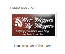 For Bloggers by Bloggers badege