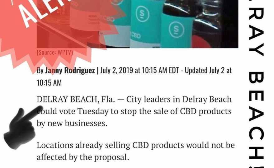 Delray Beach CBD Ban: Second Reading