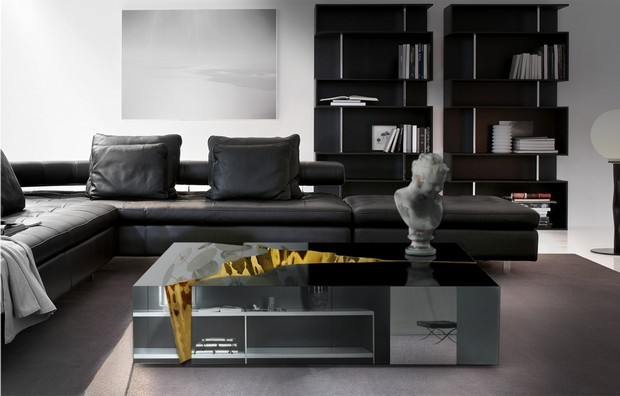 modern black living room bed bath and beyond curtains luxury gold furniture for interiors 18