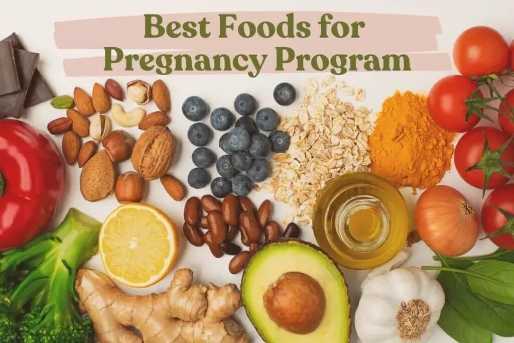 foods for pregnancy program