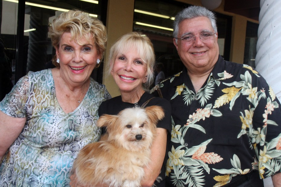 Yvonne Boice, Suzi Goldsmith, Benjamin Franklin (the dog) and Al Zucaro.