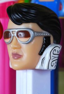 We don't know if this is the specific Elvis Pez Dispenser that was stolen, but this is what one model of an Elvis Pez dispenser looks like.