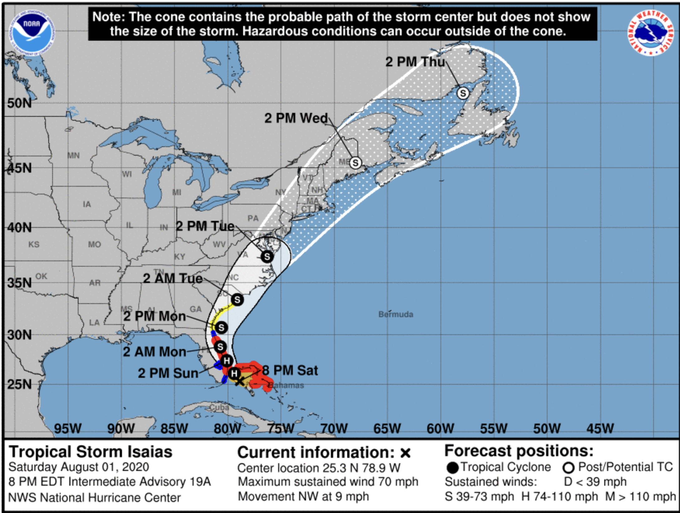 Isaias At 11pm Still A Tropical Storm But Expect Hurricane In Palm Beach County Bocanewsnow Com