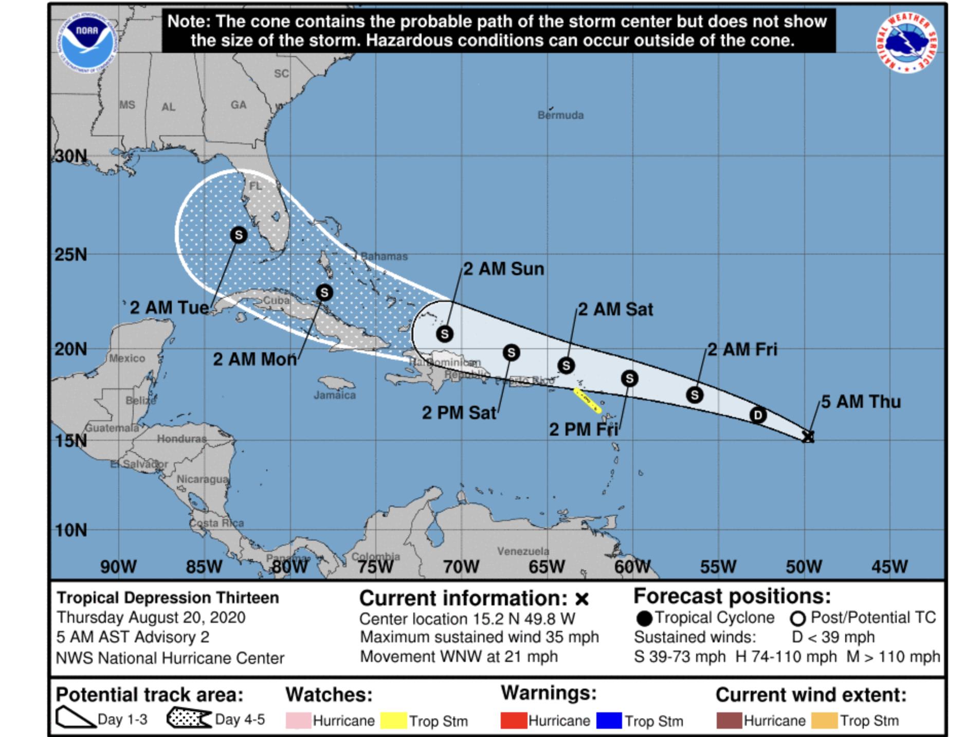 national hurricane center august 20 2020