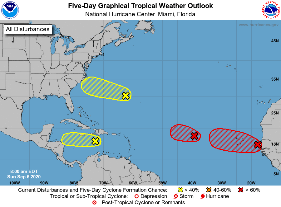 hurricane forecast sunday sept 6