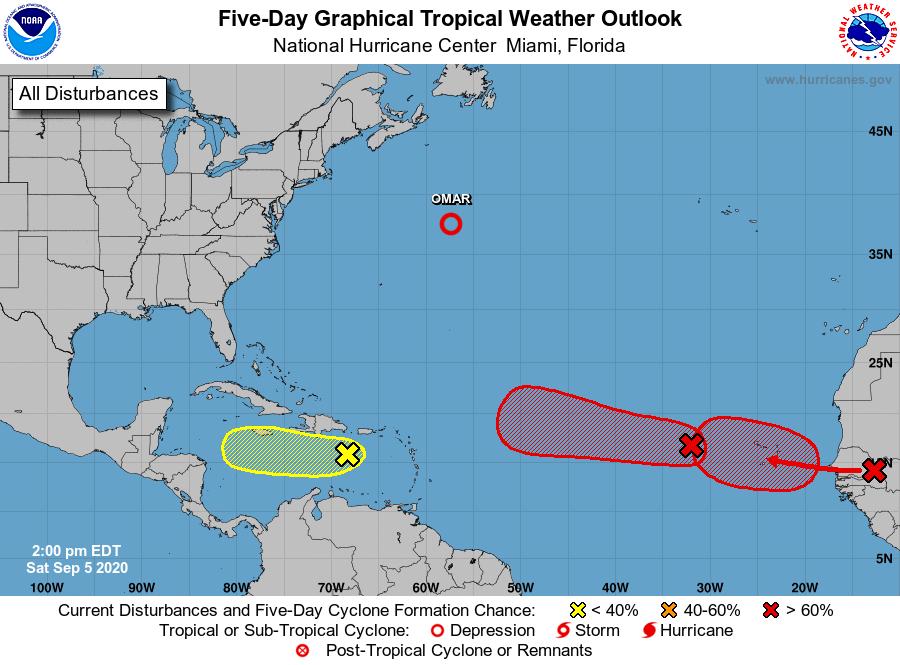 hurricane map florida saturday sept 5 2020
