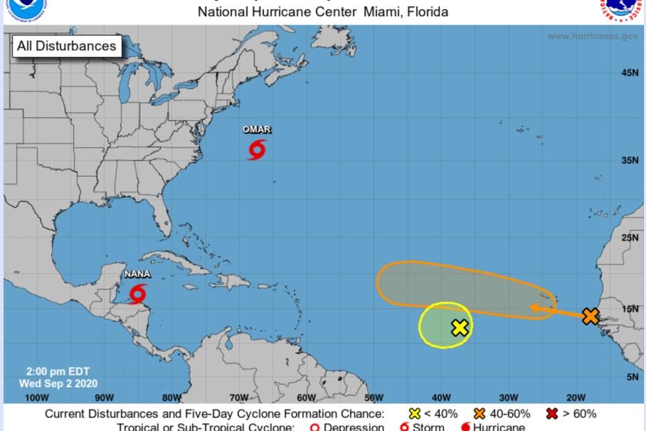 two waves hurricane nana omar