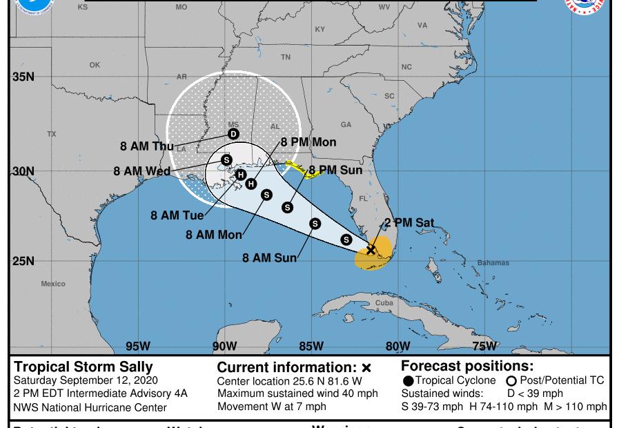 national hurrricane center 2pm september 12 2020