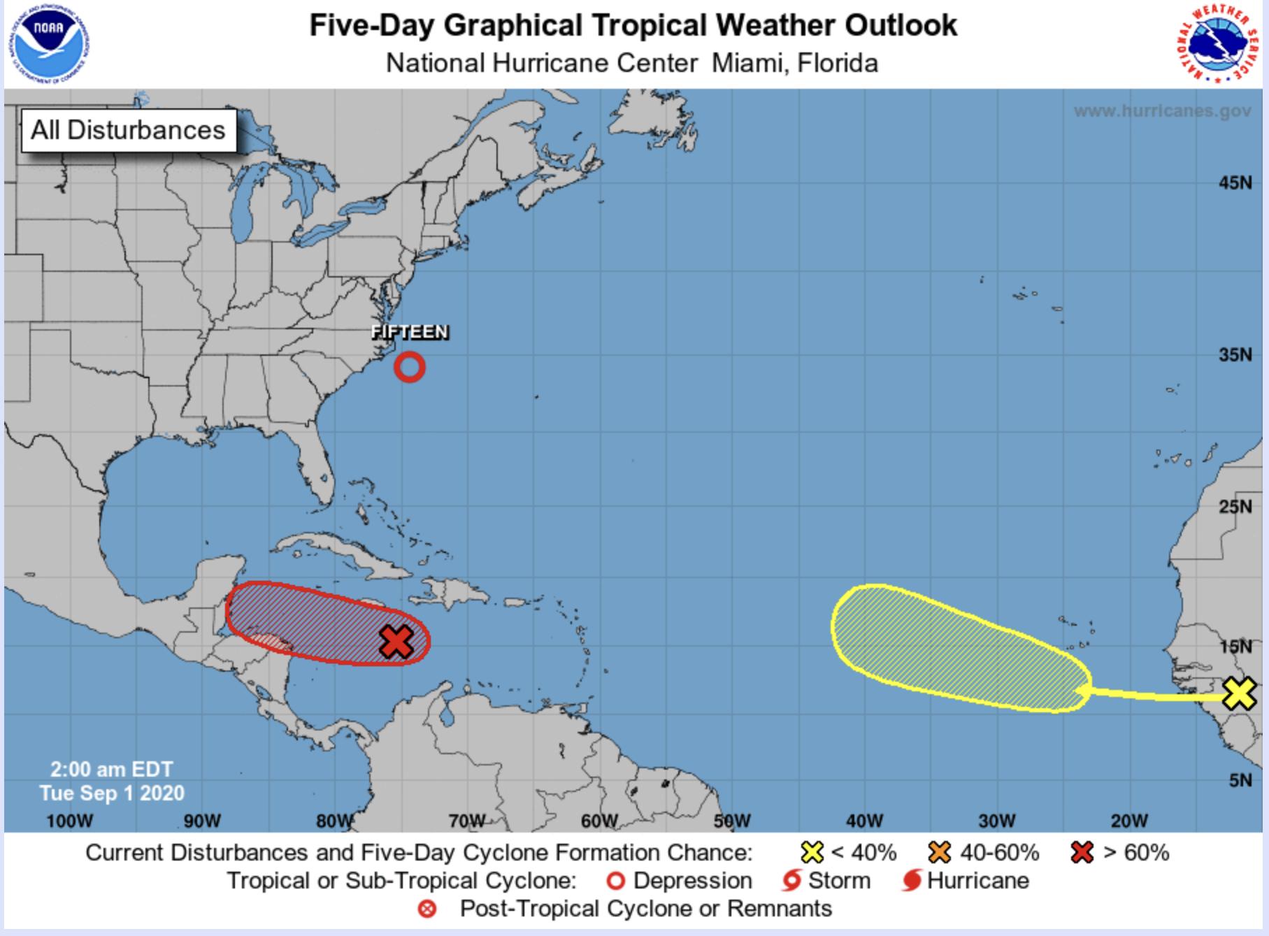 Hurricane Center Tropical Depression Forms Tropical Wave Developing Bocanewsnow Com