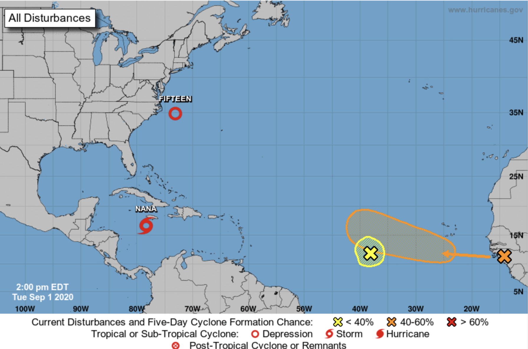 tropical storm nana