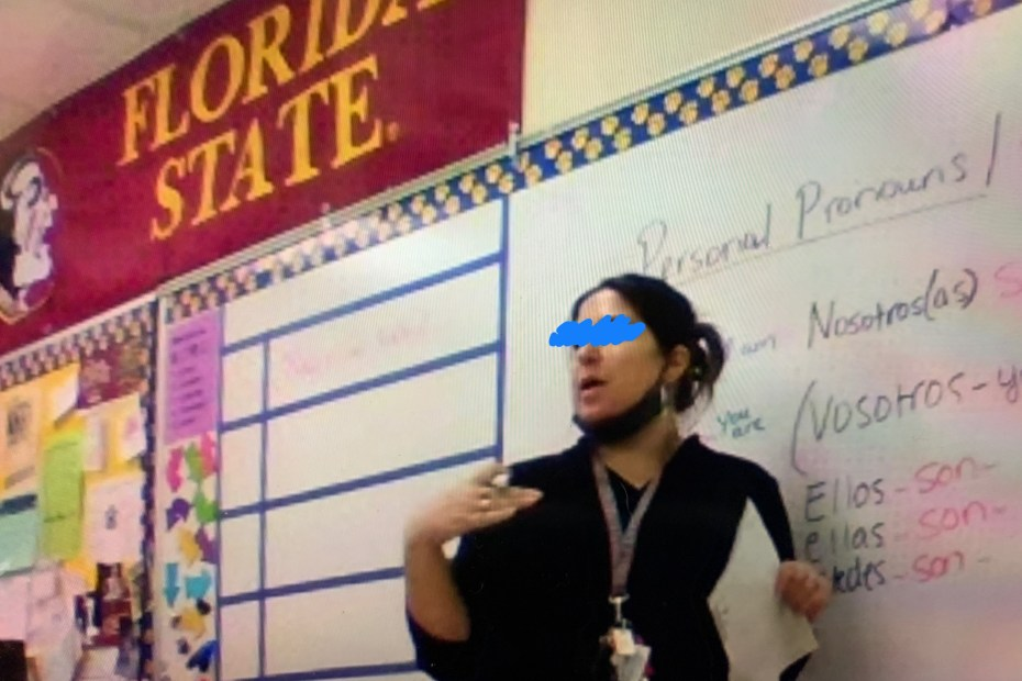 teachers no mask palm beach county