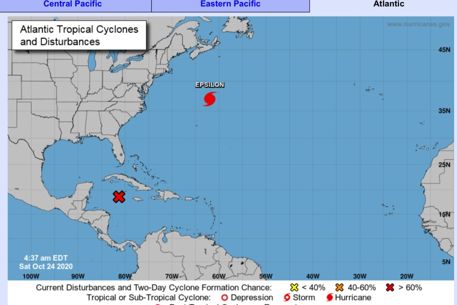 National Hurricane Center Forecast October 24 2020