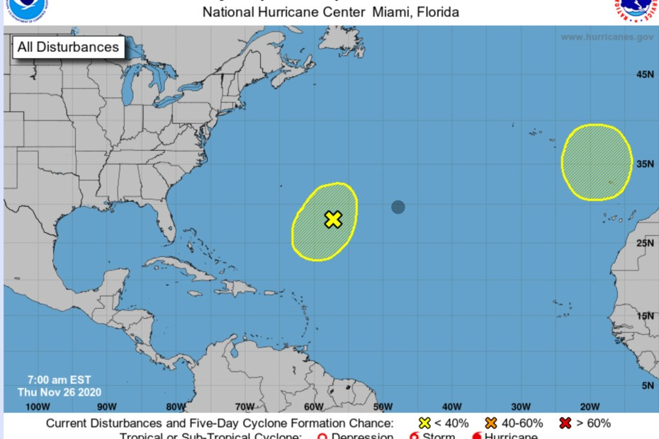 national hurricane center thanksgiving 2020