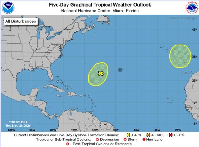 national hurricane center thanksgiving 2020