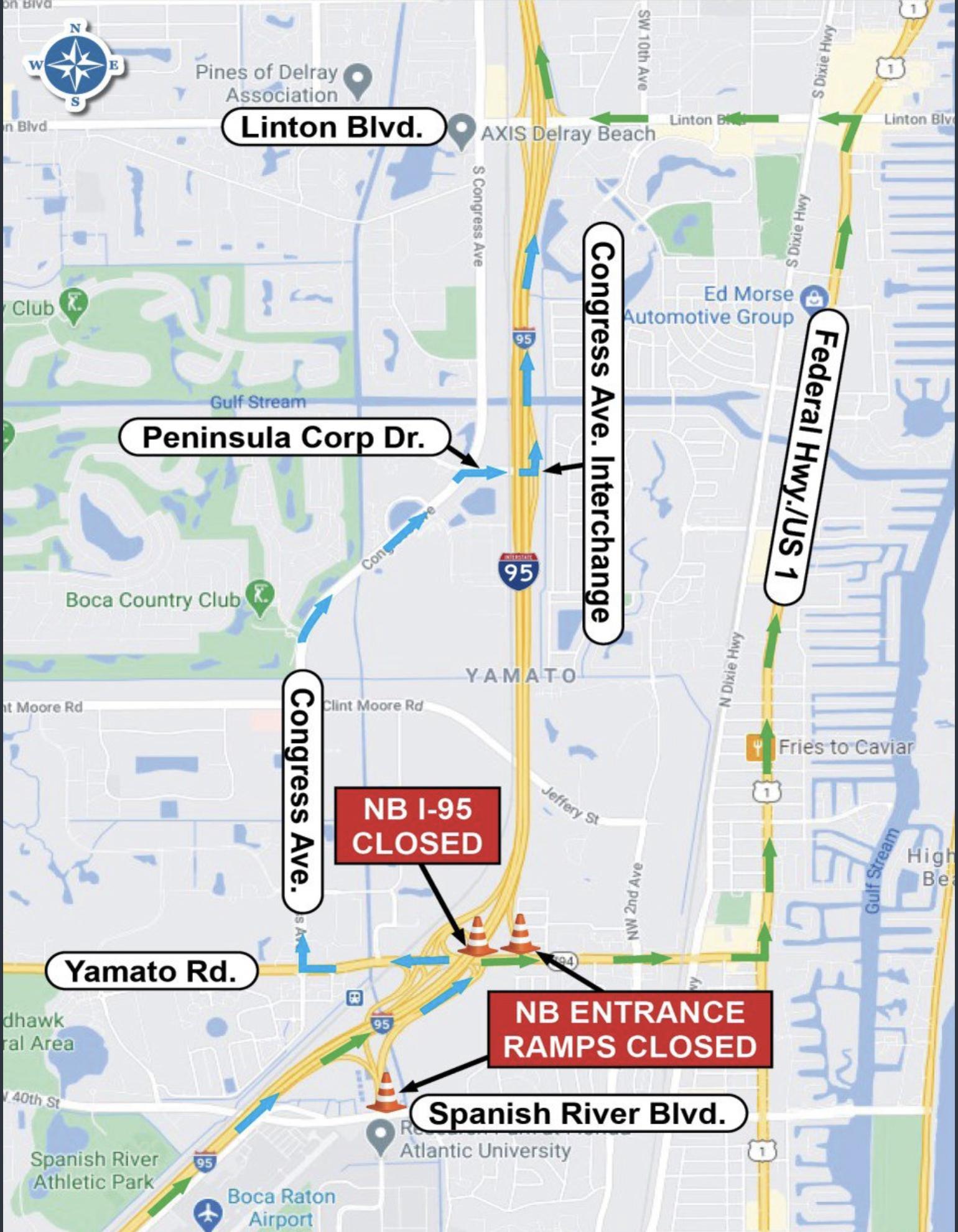 I-95 Closure Boca Raton
