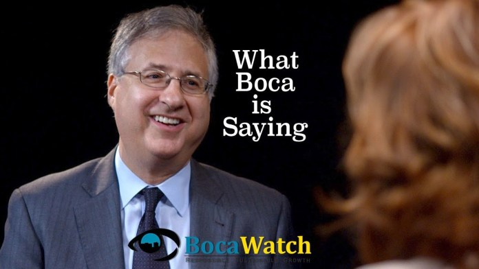 What Boca is Saying: County Commissioner Steven Abrams