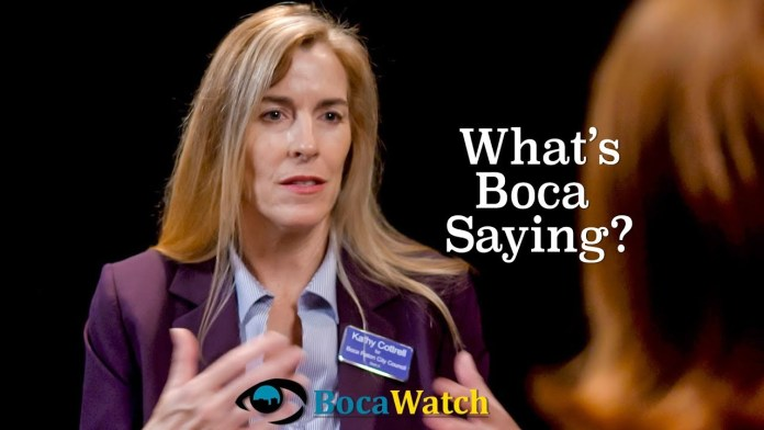 What's Boca Saying? Council Candidate Kathy Cottrell