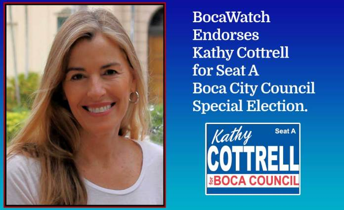 BocaWatch Endorses Kathy Cottrell for Council Seat A