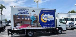 SWEET DREAM MAKERS RECEIVES TRUCK