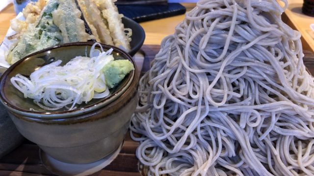 味奈登庵港南台日野店富士山盛りと天ぷら