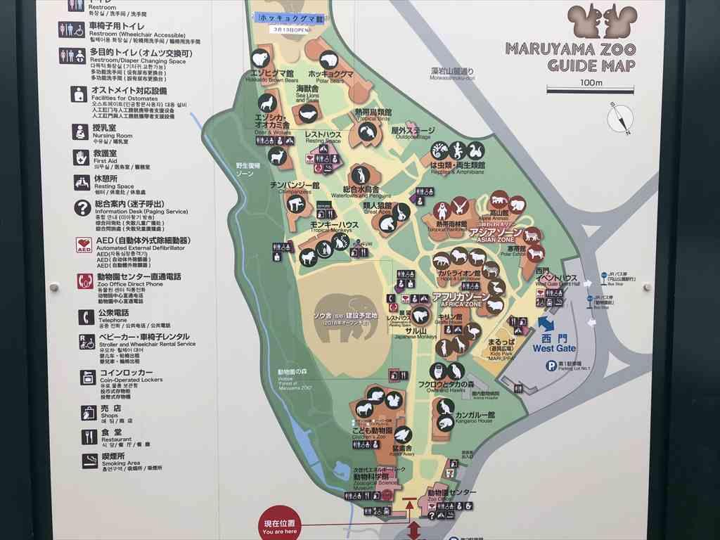 円山動物園園内案内図