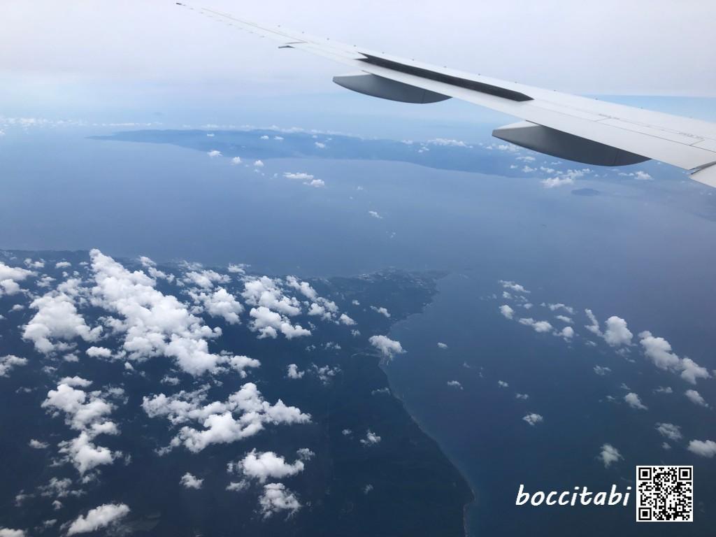 青森県下北半島上空