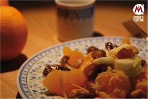 Insalata di arance, finocchio, datteri e anacardi