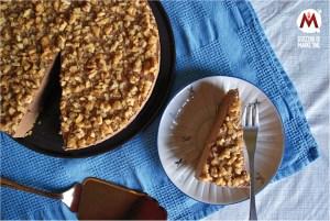 Cheesecake al cioccolato fondente, noci e zenzero