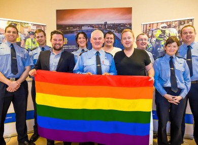 Limerick Gardai With Pride Flag
