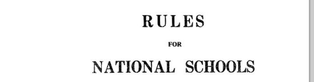 Rules for National Schools