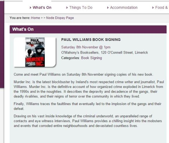 paul williams blurb limerickie