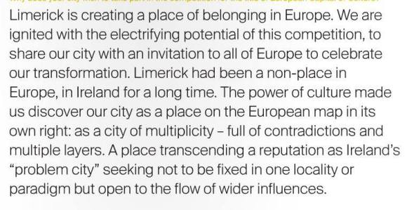 Limerick 2020 submission