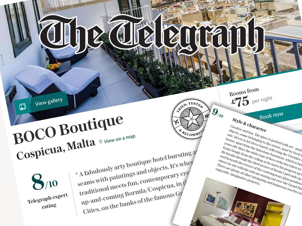 The Telegraph gives BOCO Boutique top marks
