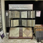 Display of tile samples and style options