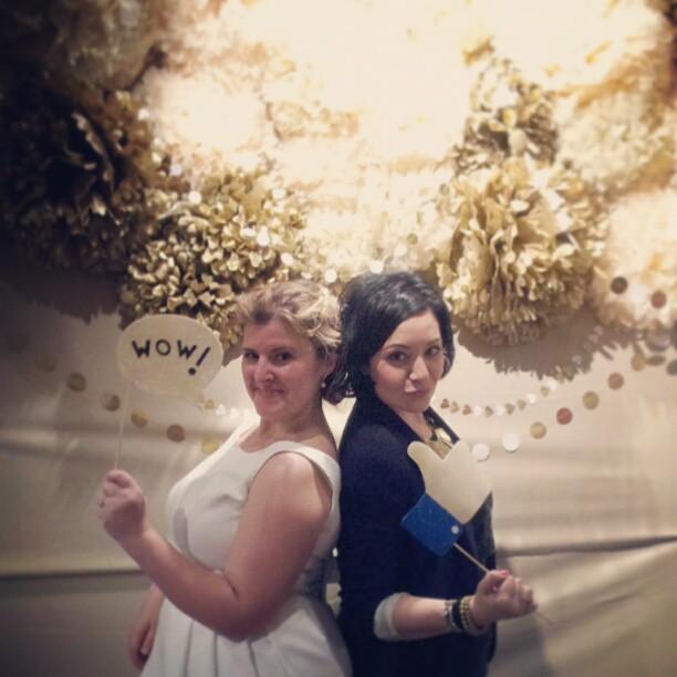boda de invierno photocall
